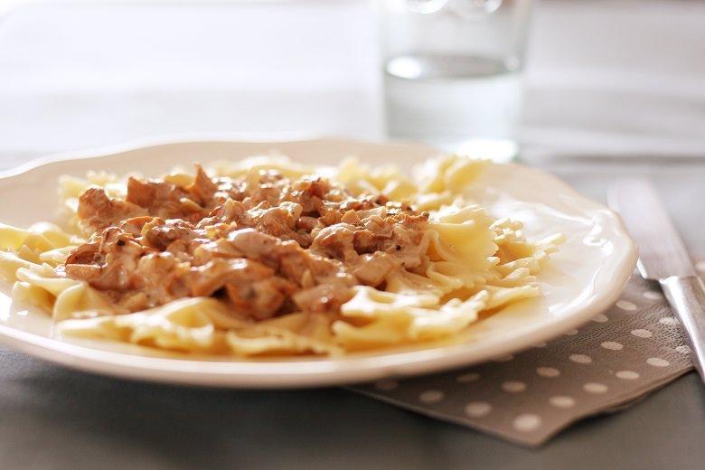 Vegane Pfifferlingsoße für Pasta